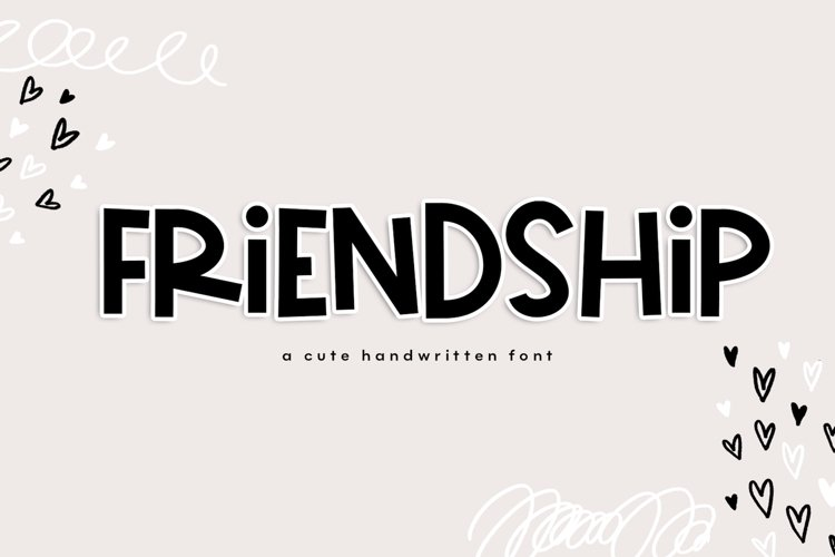 Friendship - A Bold & Cute Handwritten Font example image 1