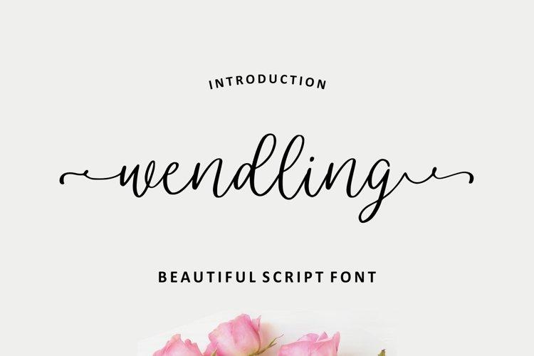 Wendling - Beautiful Script example image 1