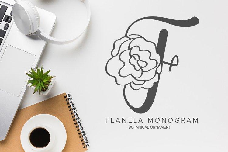 Flanela Monogram example image 1