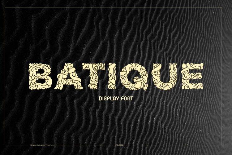 Batique - Indonesia Display Font
