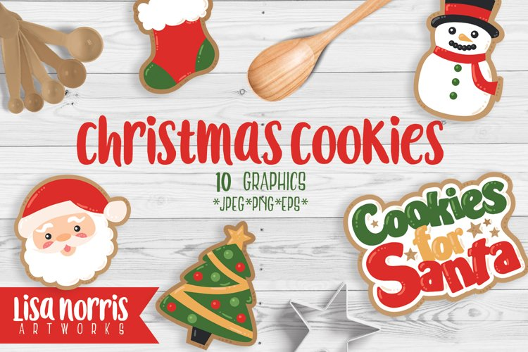 Christmas Cookies Clip Art Graphics