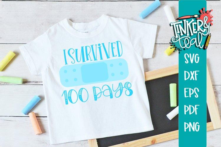 I Survived 100 Days School SVG