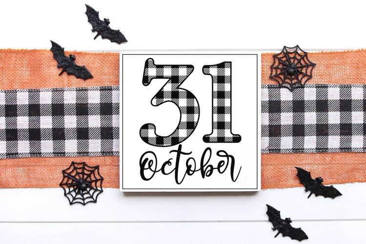 Halloween - Buffalo Plaid - October 31 SVG