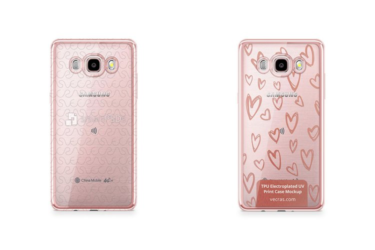 Samsung Galaxy J7 2016 TPU Electroplated Case Design Mock-up example image 1