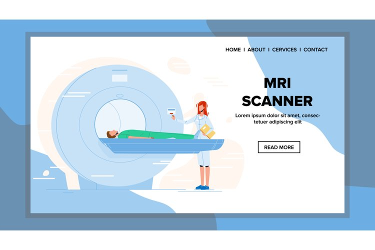Mri Scanner For Examination Patient Health Vector