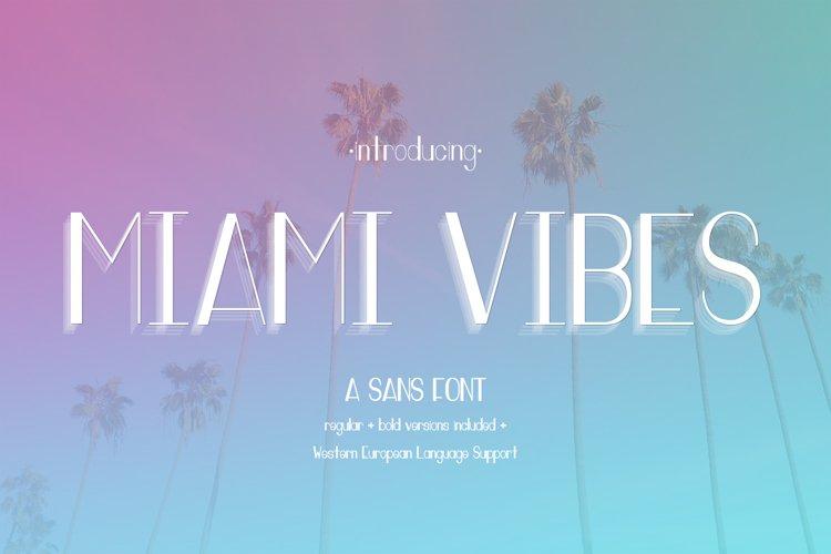 Miami Vibes Art Deco Sans Font example image 1