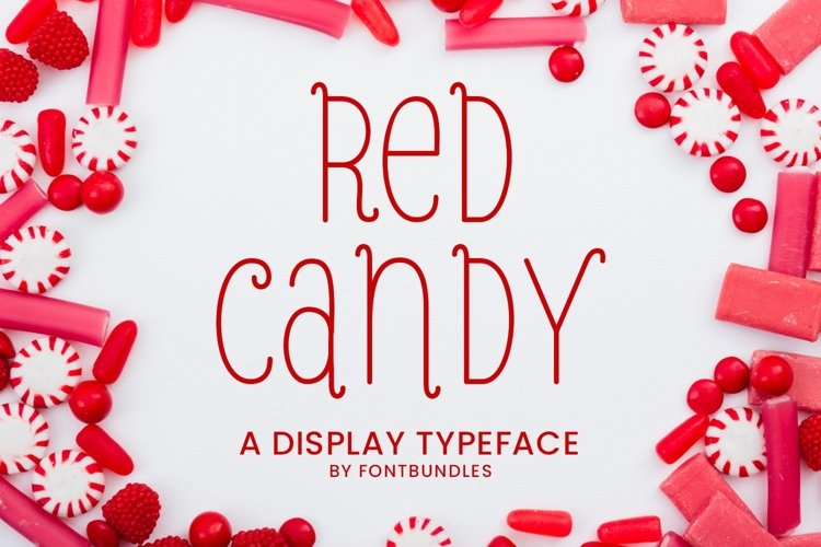 Web Font Red Candy example image 1