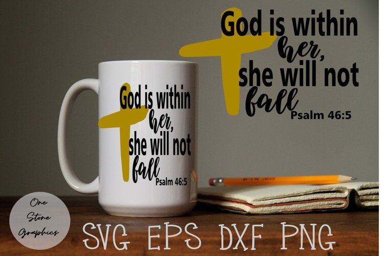 Religious svg, Faith svg,Religion svg,God is within her svg example image 1