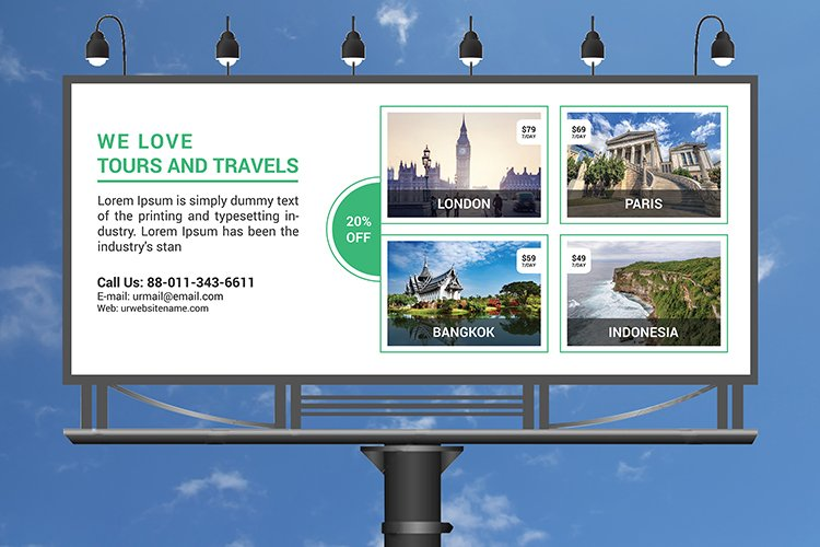 Photography billboard template design example image 1