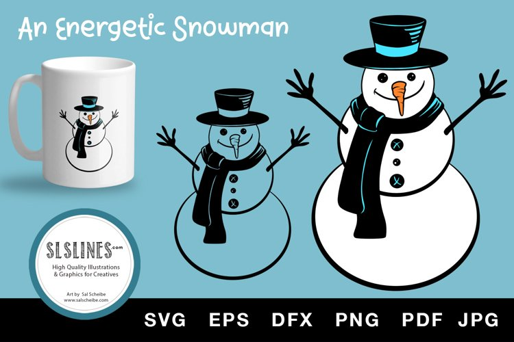 Winter Snowman with carrot nose SVG EPS PNG