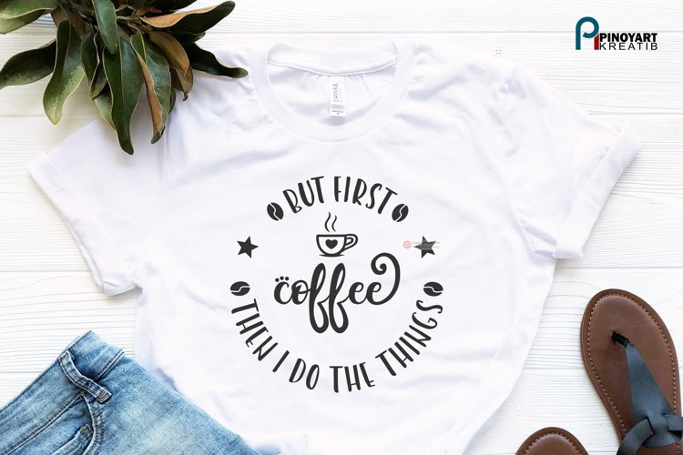 But First Coffee svg - a coffee vector file