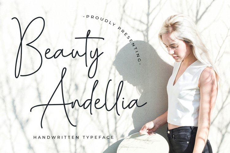 Beauty Andellia - Handwritten Typeface example image 1