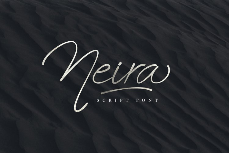 Neira script font example image 1