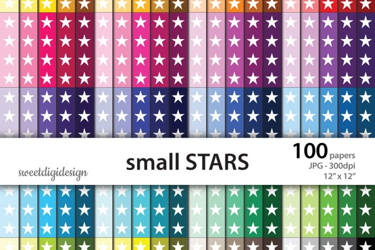 Small seamless stars digital background example image 1