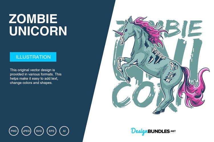 Zombie Unicorn Vector Illustration