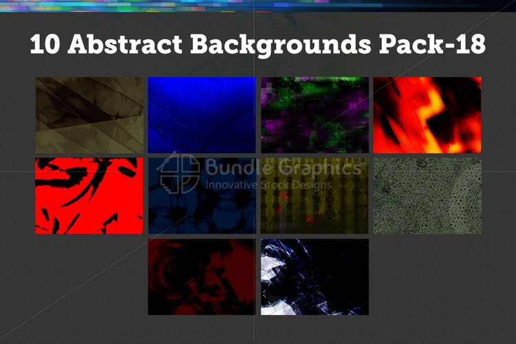 10 Abstract Backgrounds – Pack-18 example image 1