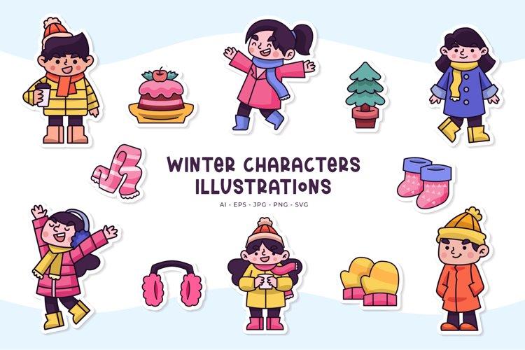 Winter Character Illustrations