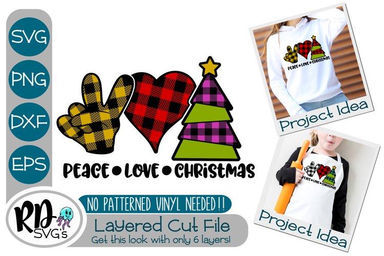Peace Love Christmas - A Plaid Cricut Layered Cut File