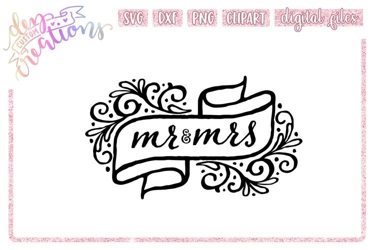 Mr & Mrs Banner - SVG - DXF - PNG Cut Files