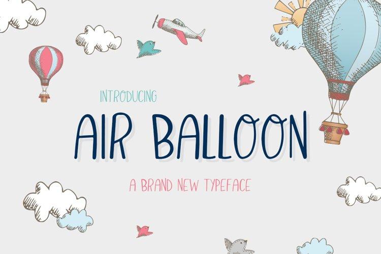Air Balloon Font example image 1