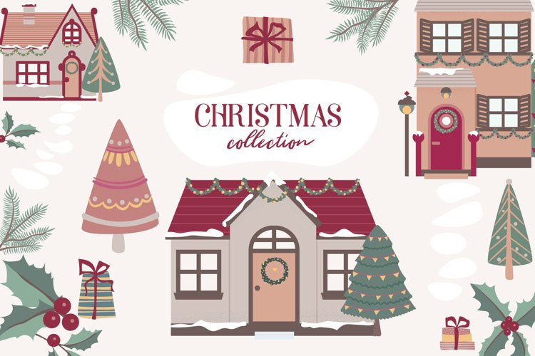 Christmas collection of cliparts, Winter elements