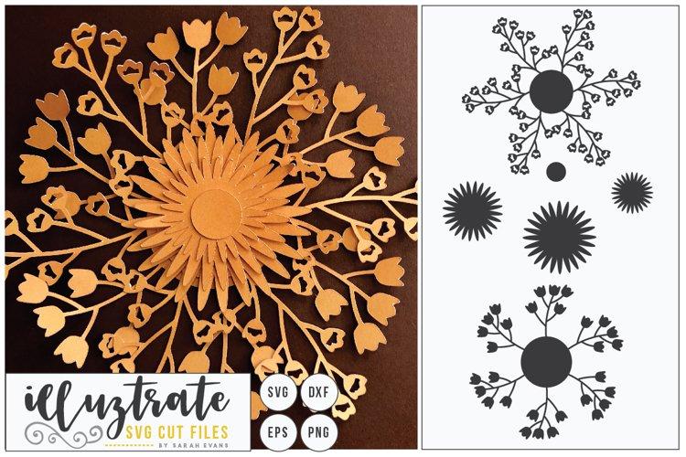 Paper Cut Flowers SVG Cut File - Paper Cutting Bundle DIY - Free Design of The Week Design5