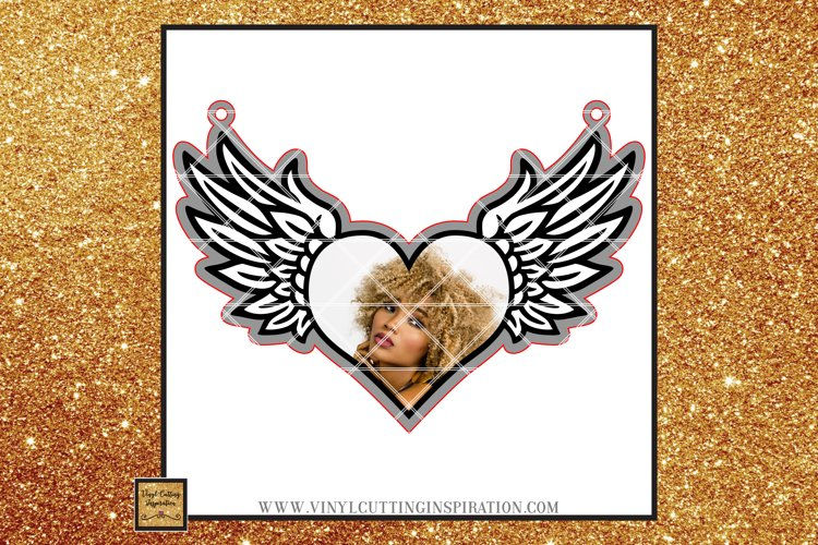 Christmas Ornament Angel Wings Svg Heart Svg In Memory of