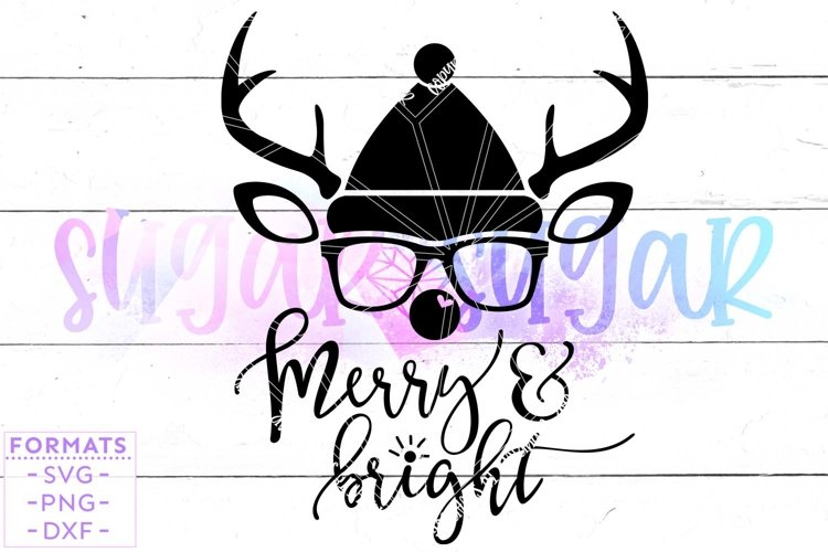 Merry and Bright SVG