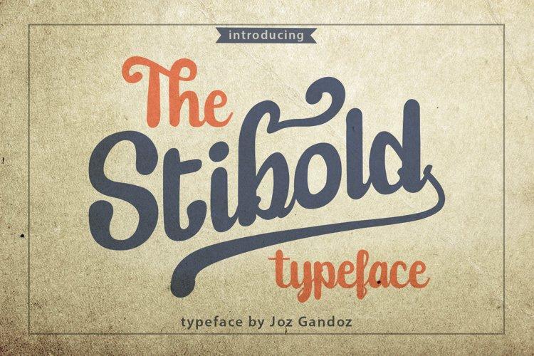 Stibold Typeface example image 1