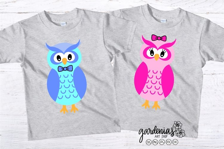 Owl SVG   Boy and Girl Cut File   Animal SVG   His and Hers