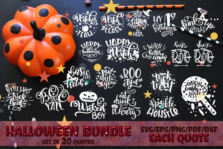 Halloween svg Bundle Witch SVG Trick or treat svg Boo svg example image 1