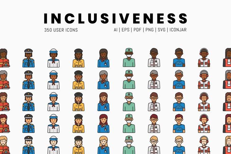 350 Inclusiveness Icons