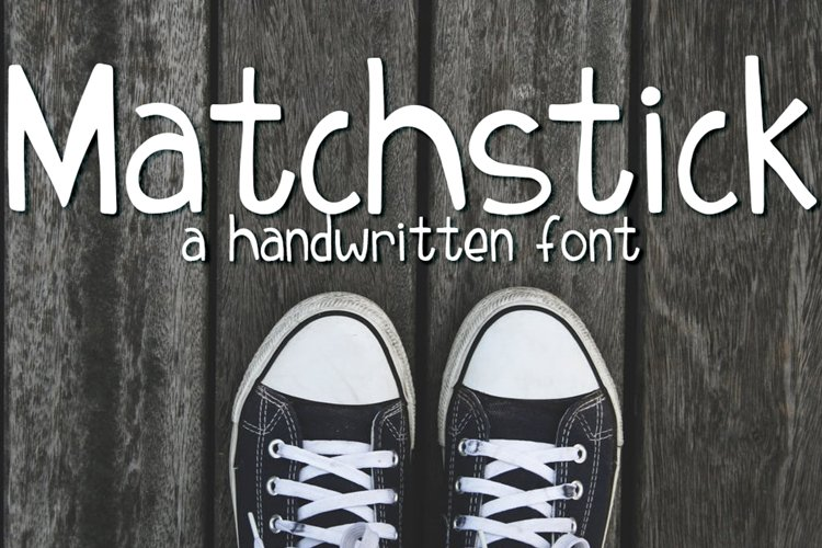 Matchstick Font example