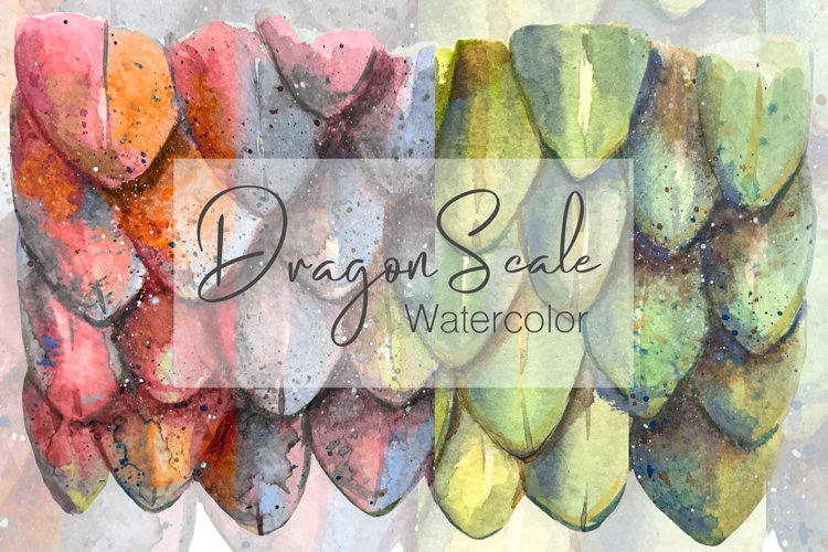 Watercolor Dragon Scale Pattern example image 1