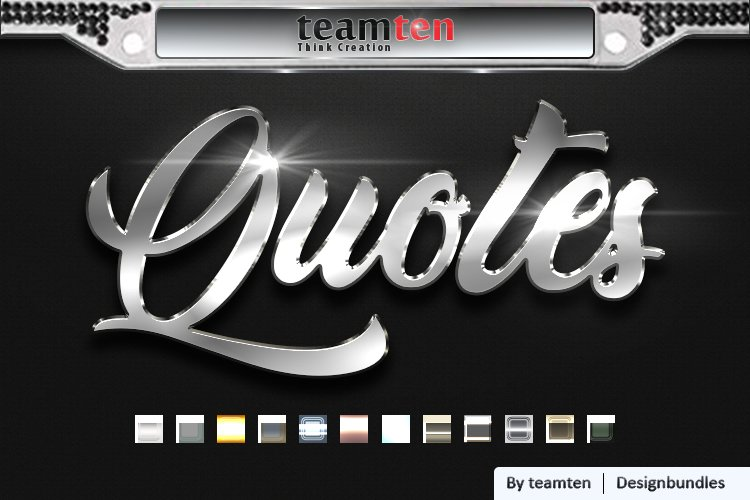 12 Classic Silver Light Text Effect example image 1