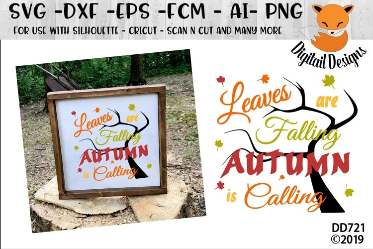 Leaves Are Falling Autumn Is Calling SVG example image 1
