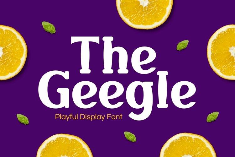 Web Font Geegle example image 1