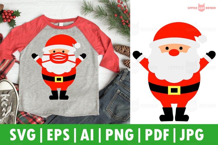 2020 Santa Mask SVG, Christmas Decor SVG, Santa SVG, Cricut example image 1