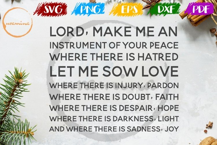 Lord,Make Me An Instrument Home Living Room Sign SVG PDF PNG example image 1