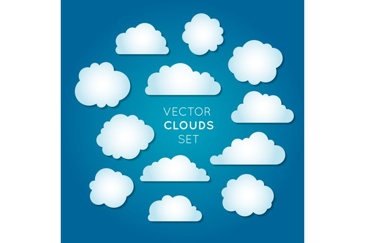 Vector clouds set 2 example image 1