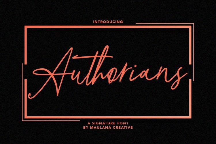 Authorians Signature Font example image 1