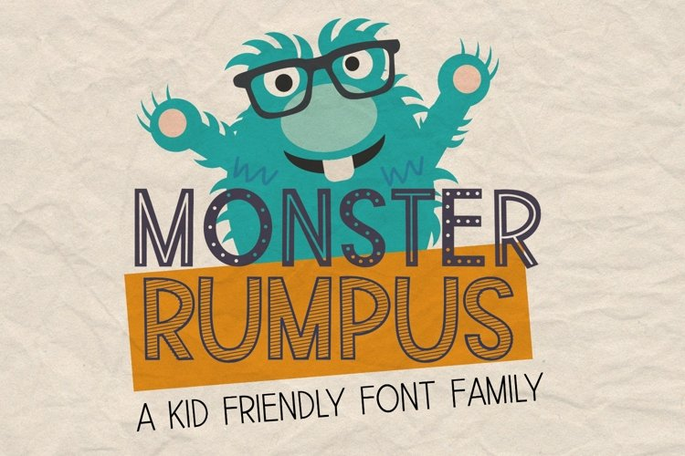 Monster Rumpus Font Family example image 1