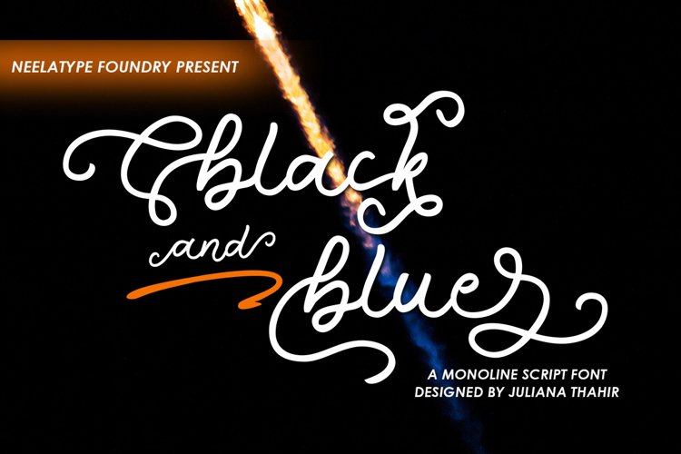 Black and blue - Monoline example image 1