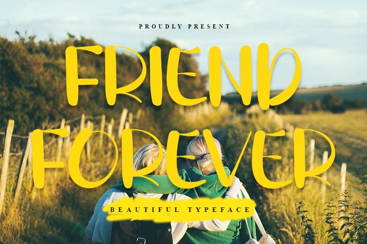 Friend Forever - Beautiful Handwritten Font example image 1