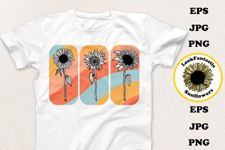 Sunflower Flower Sublimation PNG