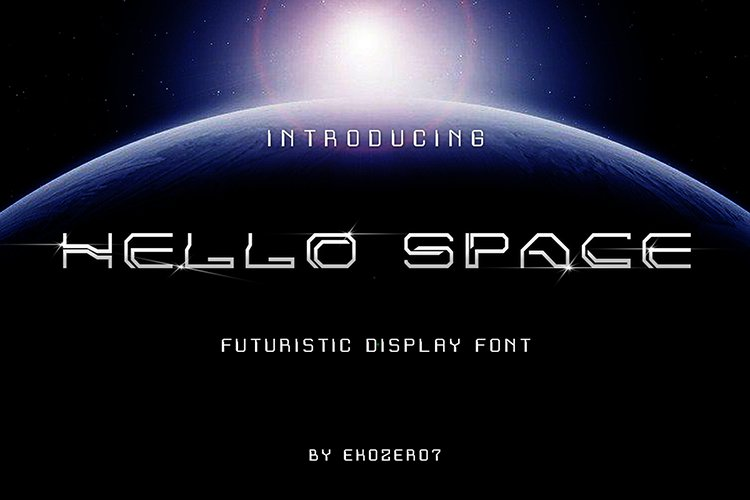 Hello Space Futuristic Display Font example image 1