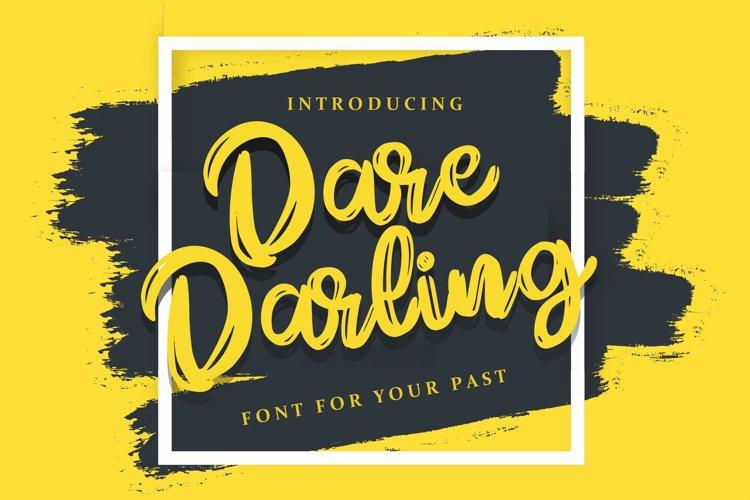 Dare Daling   Script Brush Font example image 1