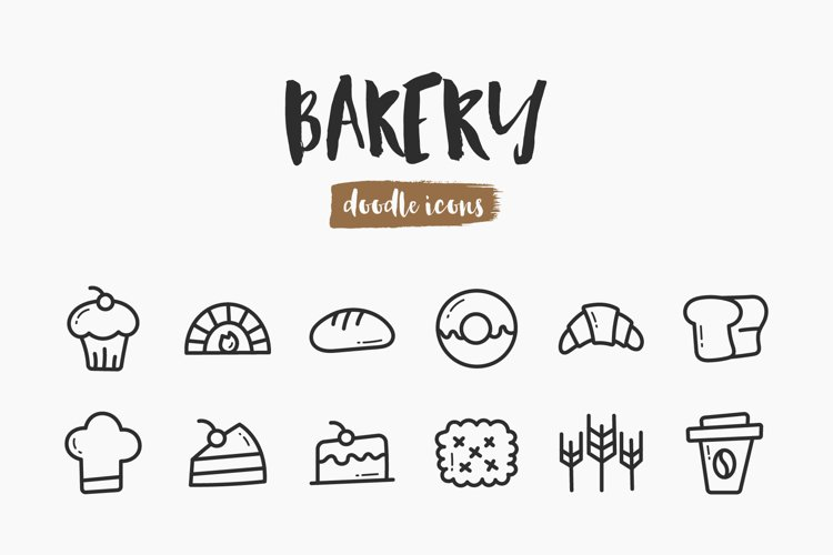 Bakery Hand-Drawn Doodle Icons