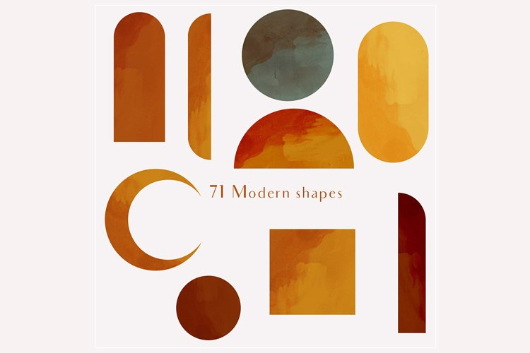 71 Modern shapes clipart illustrations example 3