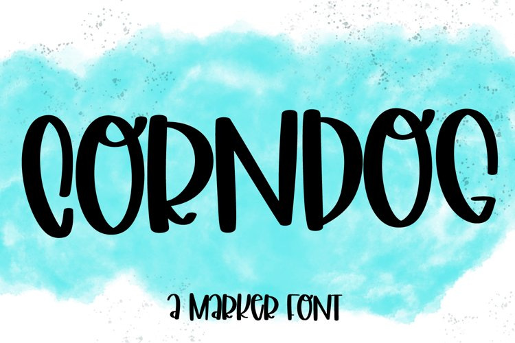 Corndog - A Silly Hand Lettered Marker Font example image 1